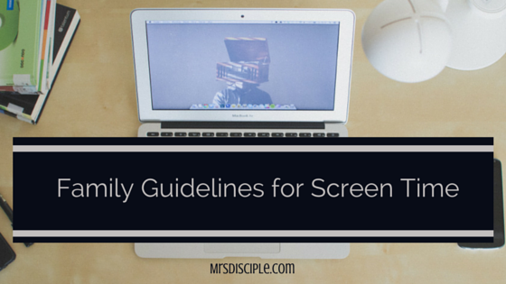 guidelines for screen time