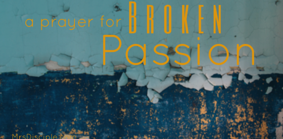 A Prayer for Broken Passion - Mrs Disciple