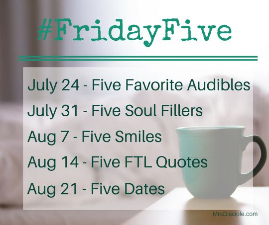 friday five linkup schedule