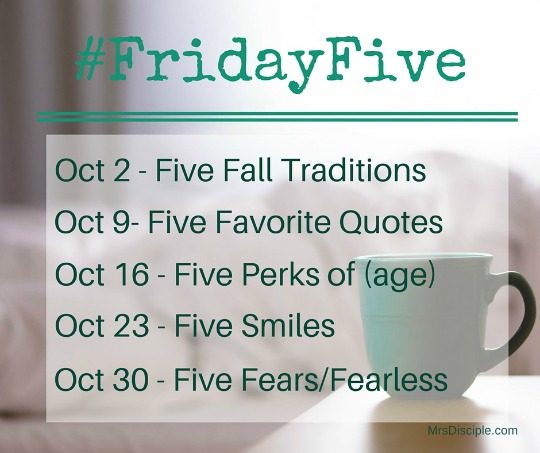 #FridayFive October