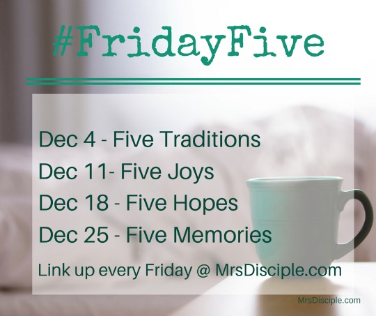 December Friday Five Prompts