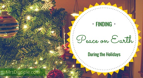 peace during the holidays