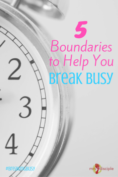 boundaries for busyness