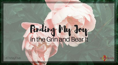 Finding My Joy in the Grin and Bear It