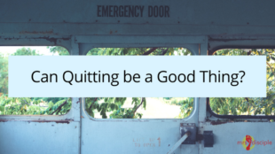 Can Quitting be a Good Thing