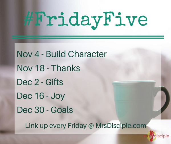 #FridayFive Nov/Dec